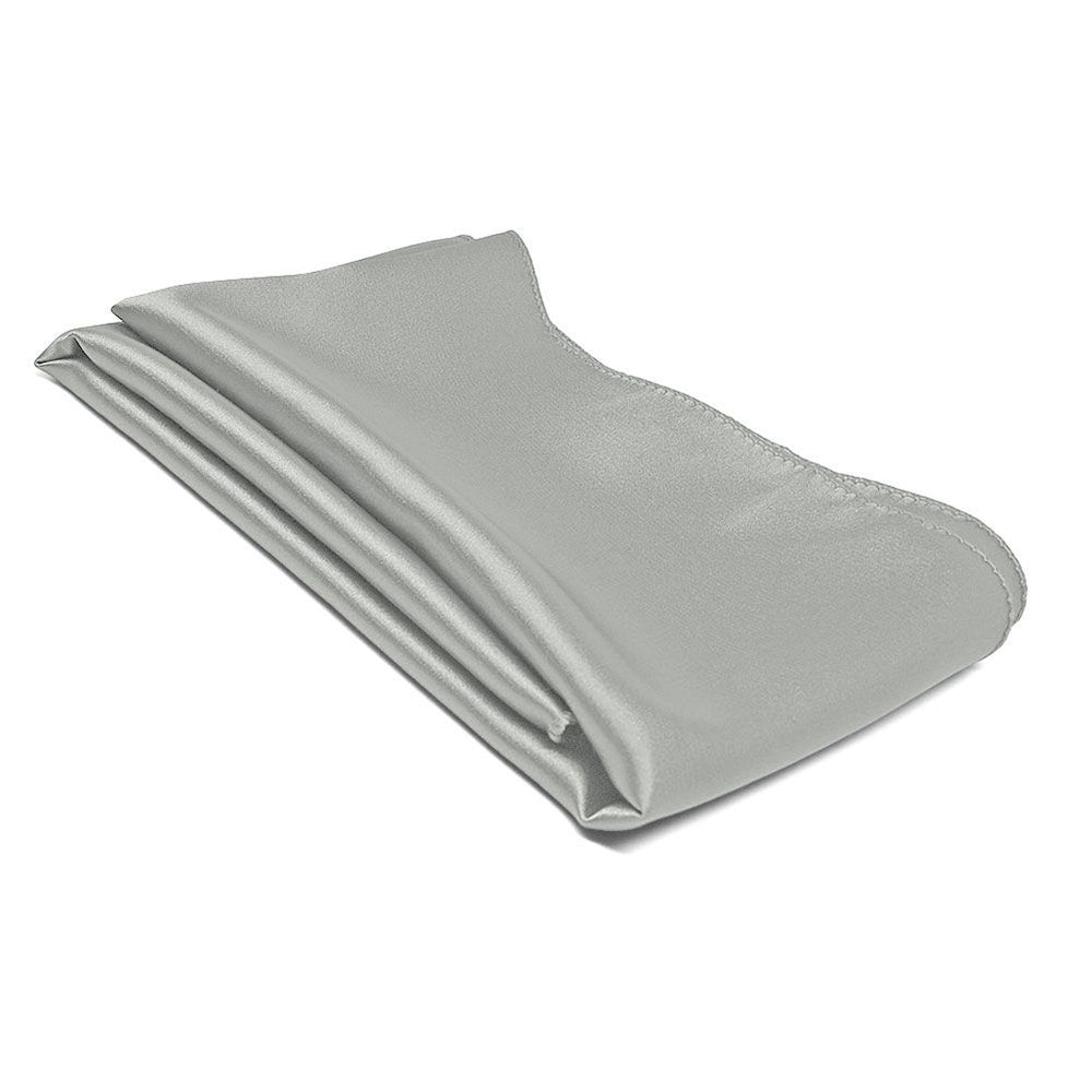 Mercury Silver Solid Color Scarf