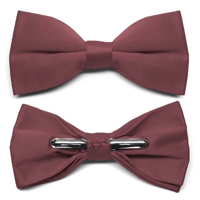 Merlot Clip-On Bow Tie