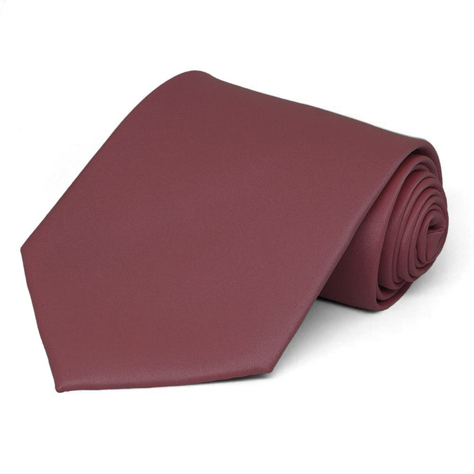 Merlot Extra Long Solid Color Necktie