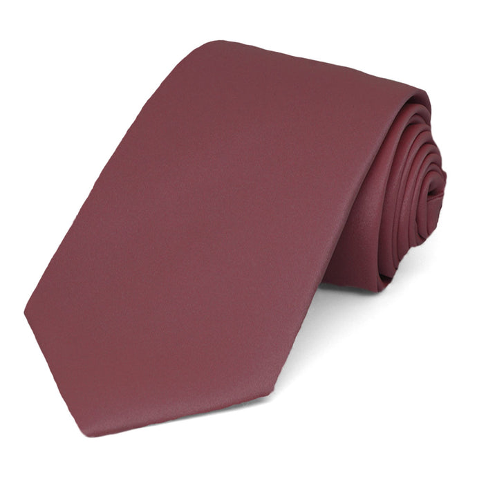 Merlot Narrow Solid Color Necktie, 3