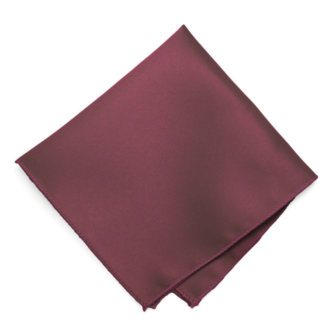 Merlot Solid Color Pocket Square