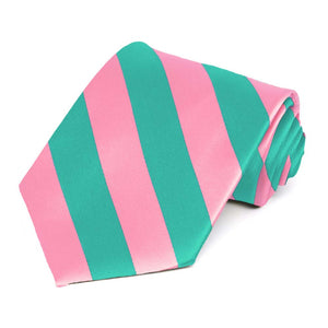Mermaid and Pink Striped Tie