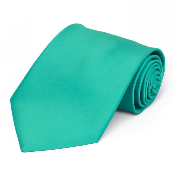 Mermaid Premium Extra Long Solid Color Necktie