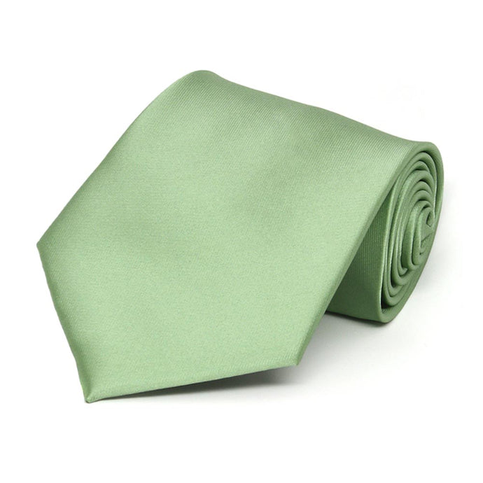 Mint Green Extra Long Solid Color Necktie