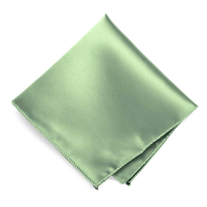 Mint Green Solid Color Pocket Square