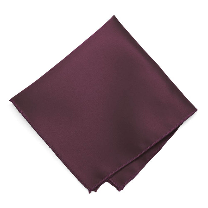 Mulberry Solid Color Pocket Square