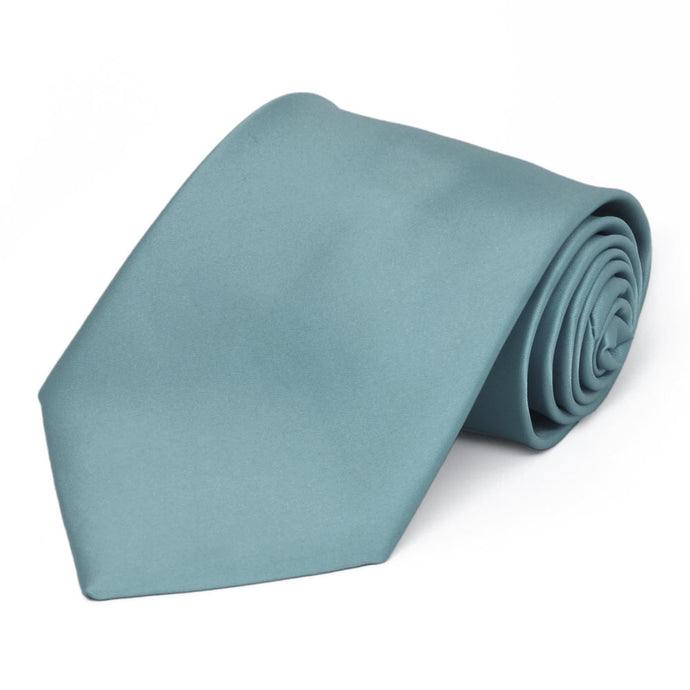 Mystic Blue Premium Extra Long Solid Color Necktie