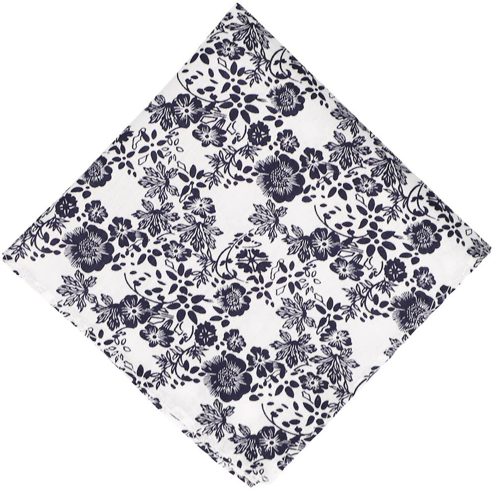 Monterey Floral Cotton Pocket Square