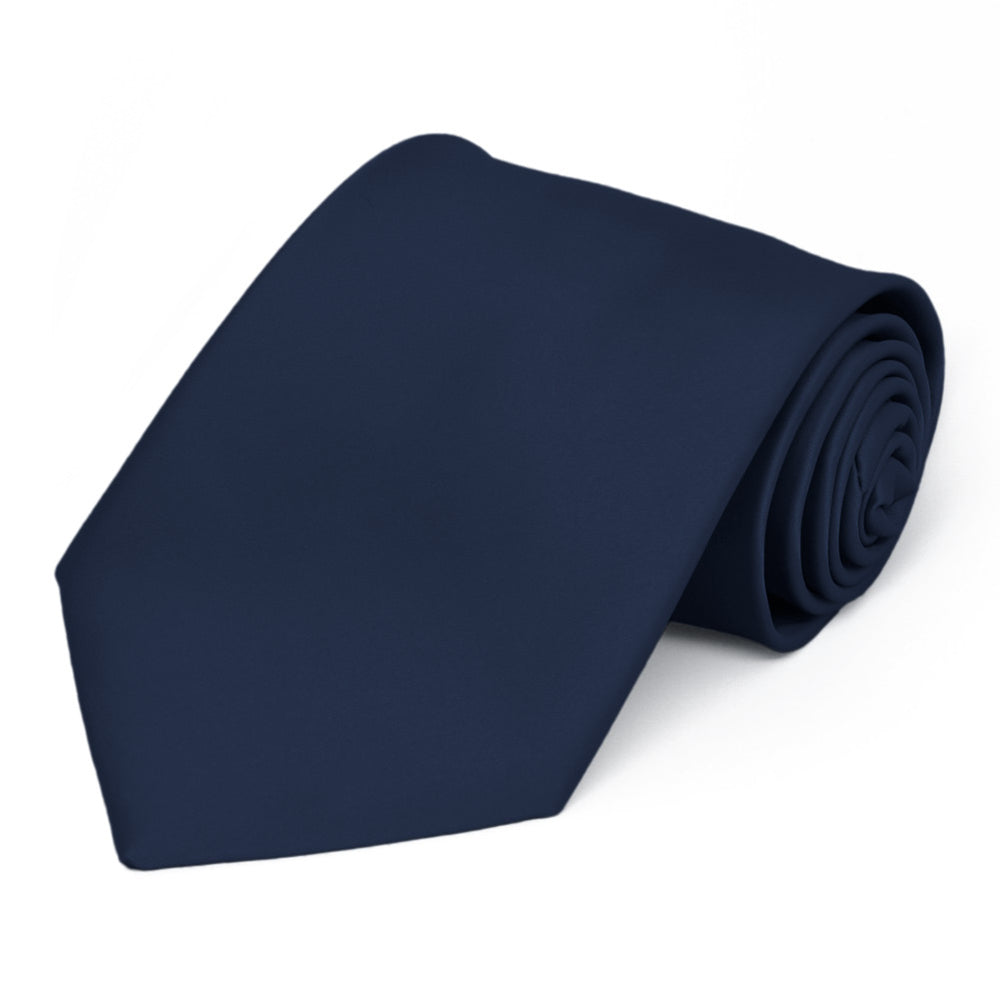 Navy Blue Premium Extra Long Solid Color Necktie