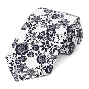 Monterey Floral Cotton Narrow Necktie