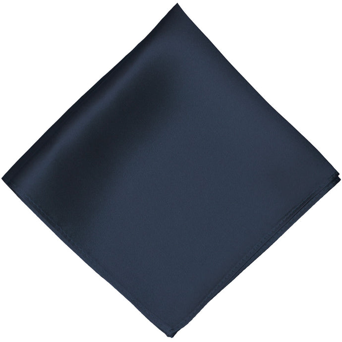 Navy Blue Silk Pocket Square