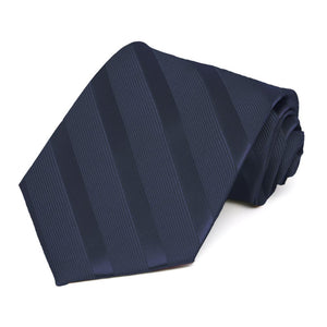 Navy Blue Elite Striped Necktie