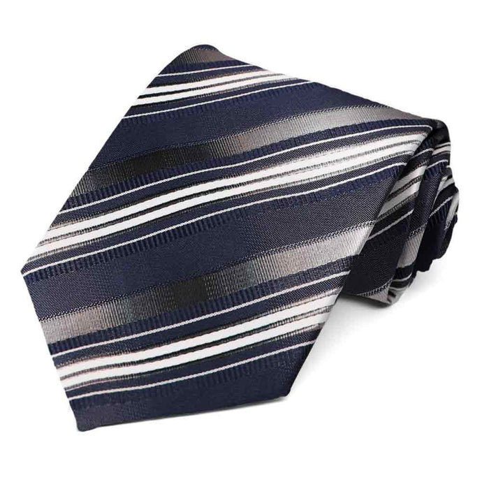 Navy Blue Blackshear Striped Necktie