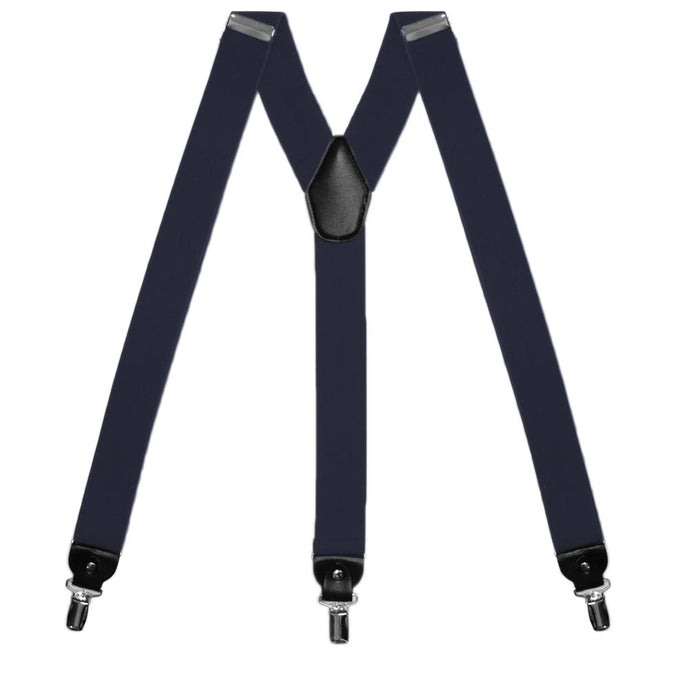 Navy Blue Wide Suspenders