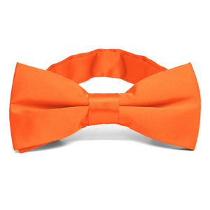 Neon Orange Band Collar Bow Tie