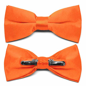 Neon Orange Clip-On Bow Tie