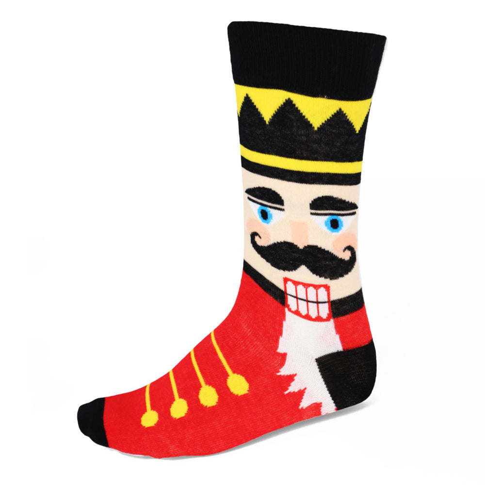 Men's Red Nutcracker Socks