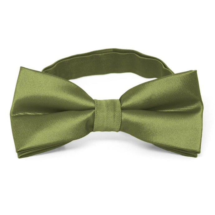Olive Green Band Collar Bow Tie
