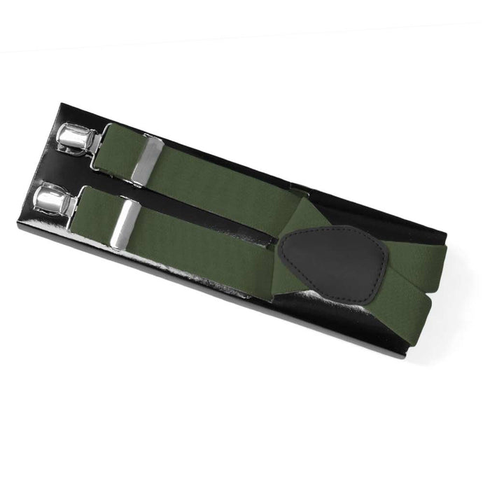 Olive Green Suspenders