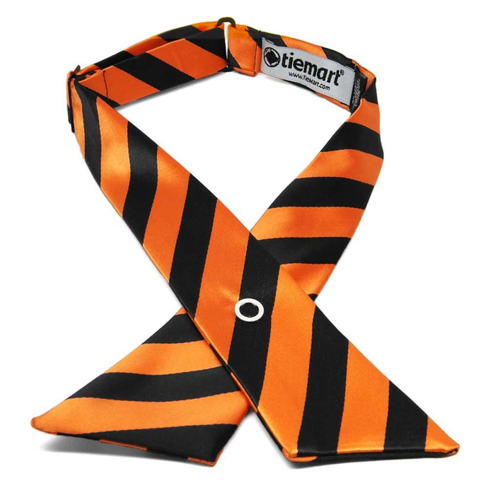 Orange and Black Striped Crossover Tie