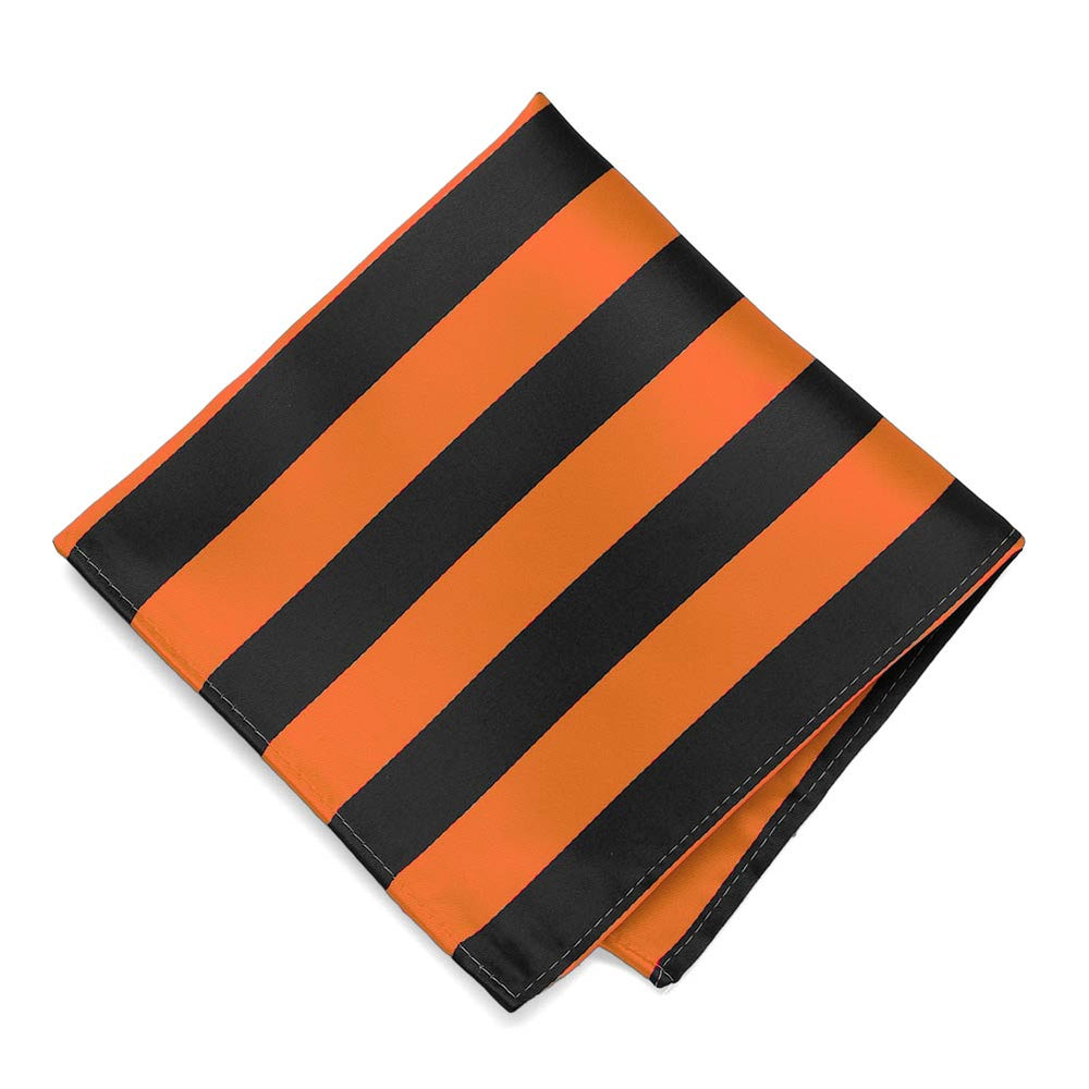 Orange and Black Striped Pocket Square
