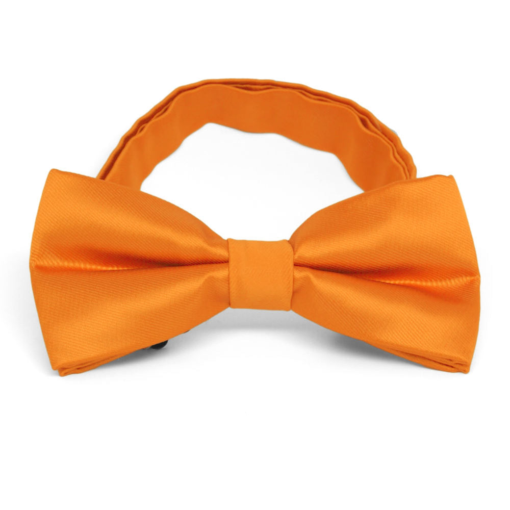 Orange Band Collar Bow Tie
