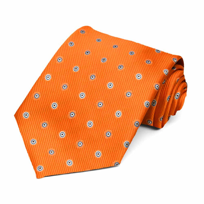 Orange Willoughby Dotted Necktie