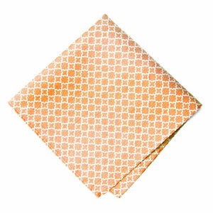 Orange Moroccan Trellis Cotton/Silk Pocket Square