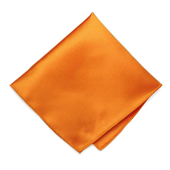 Orange Solid Color Pocket Square