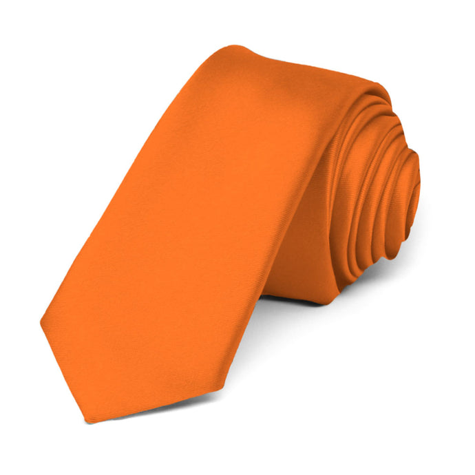 Orange Premium Skinny Necktie, 2