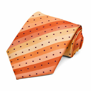 Orange Manchester Striped Necktie