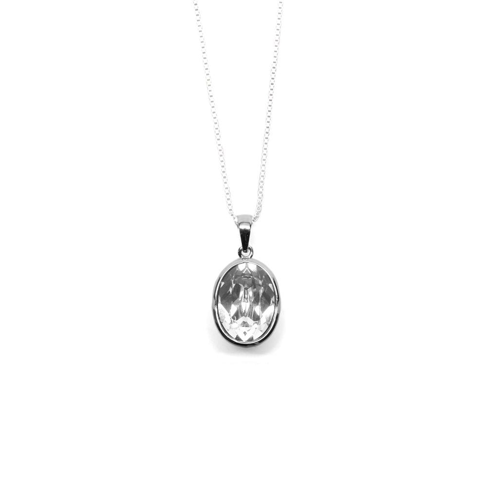 Oval Shaped Crystal Necklace