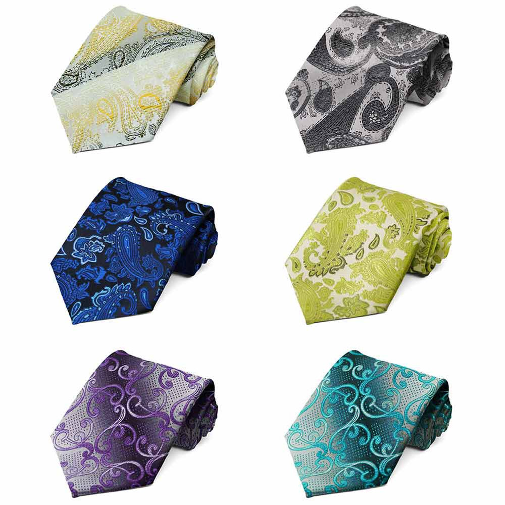 Paisley Neckties, 6-Pack