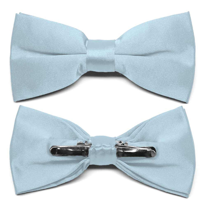 Pale Blue Clip-On Bow Tie