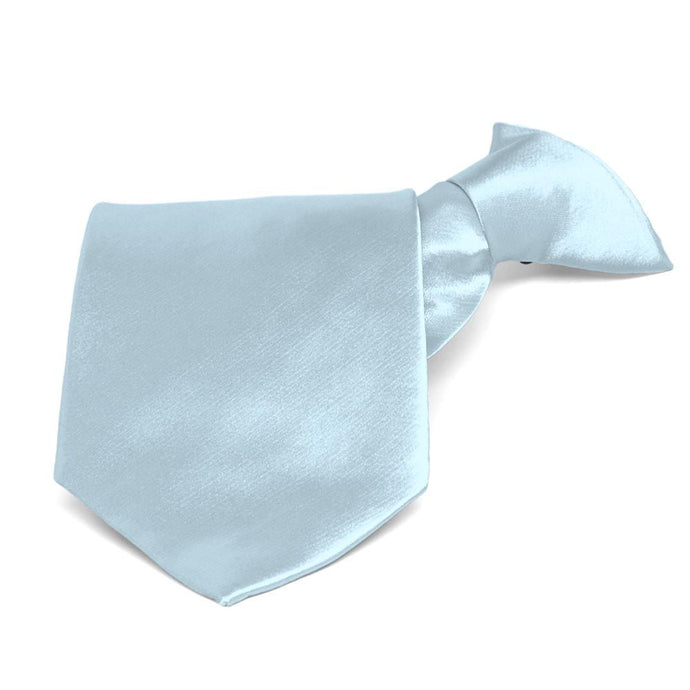 Pale Blue Solid Color Clip-On Tie