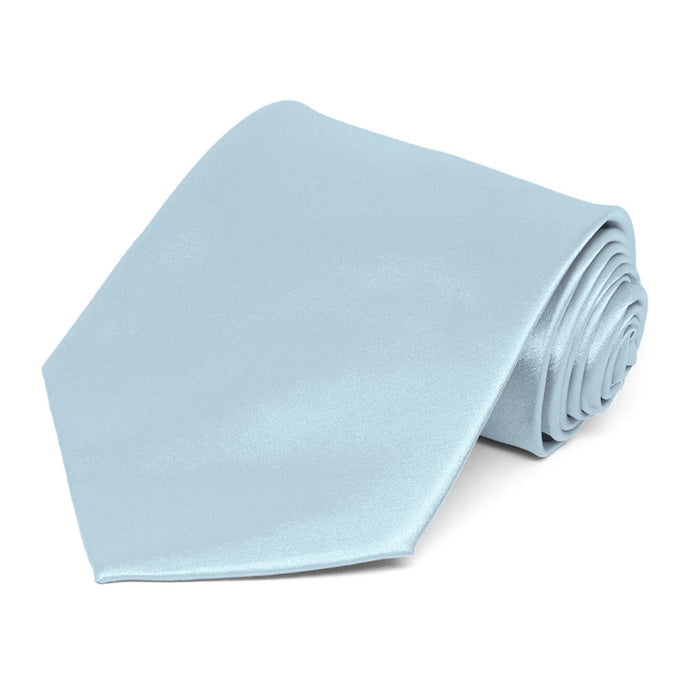 Pale Blue Extra Long Solid Color Necktie