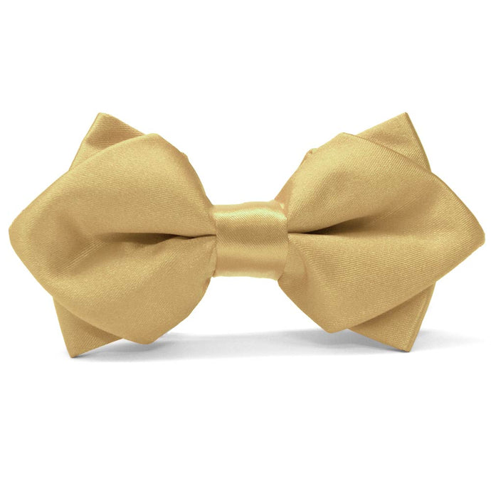 Pale Gold Diamond Tip Bow Tie