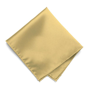 Pale Gold Solid Color Pocket Square