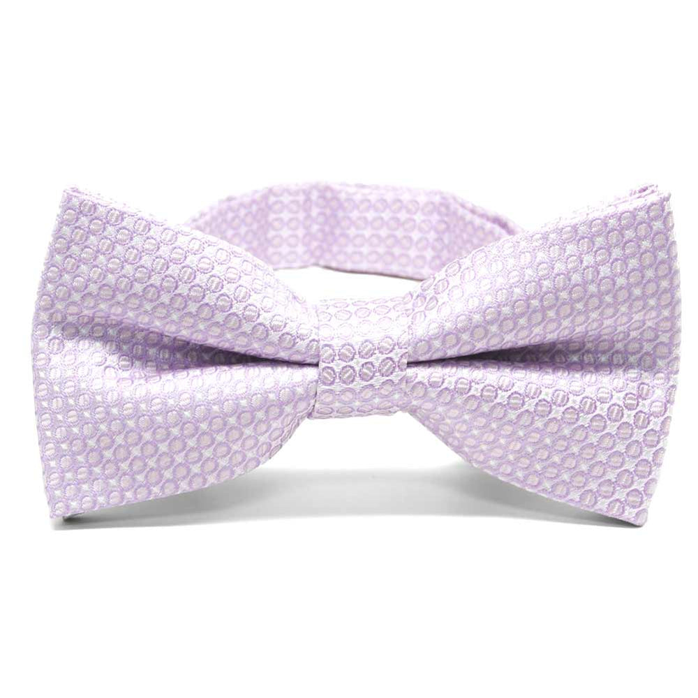 Pale Lavender Henry Grain Pattern Band Collar Bow Tie