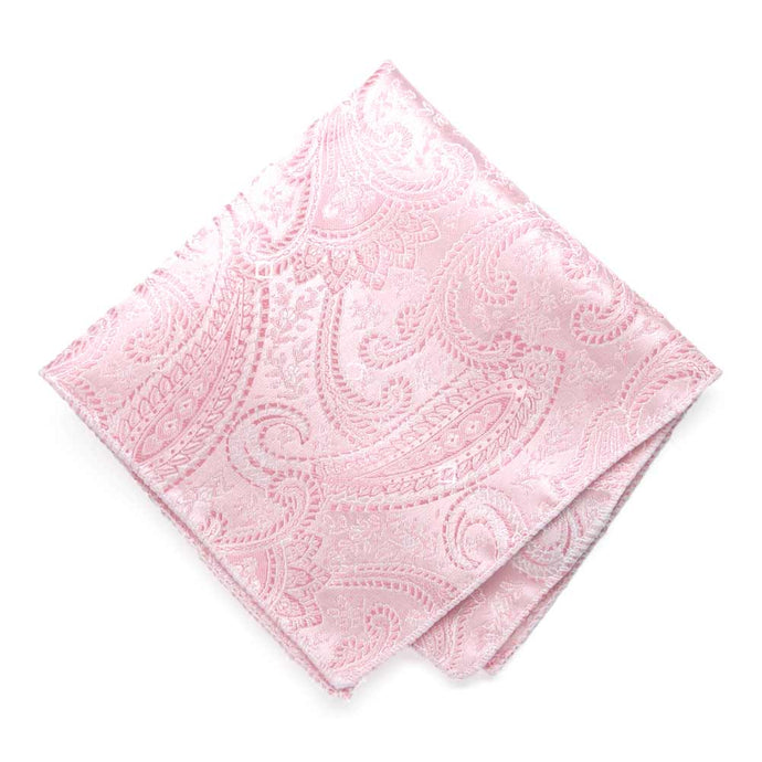 Pale Pink Clara Paisley Pocket Square