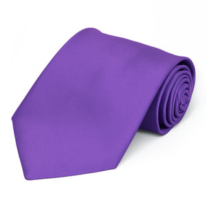 Pansy Purple Premium Solid Color Necktie