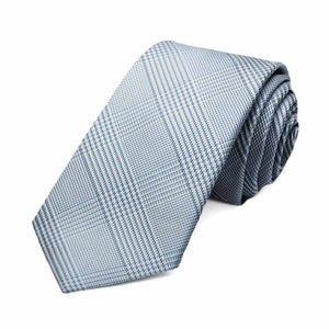 Pastel Blue Jamestown Glen Plaid Slim Necktie