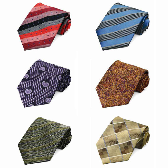 Pattern Neckties, 6-Pack