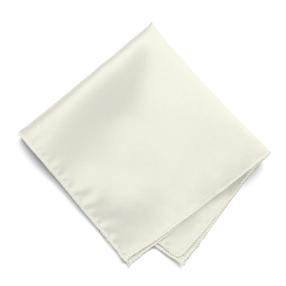 Pearl Solid Color Pocket Square