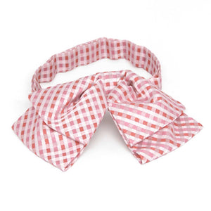 Perfect Pink George Plaid Floppy Bow Tie