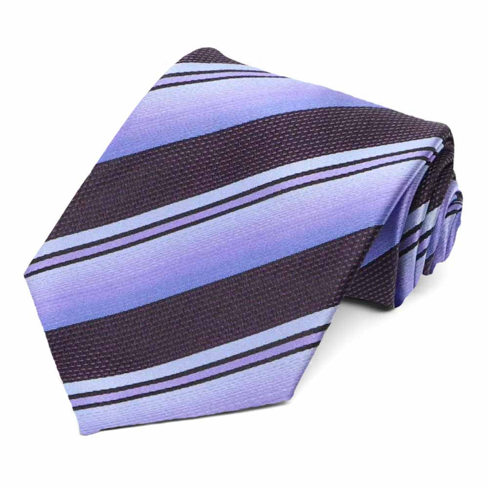 Periwinkle striped tie