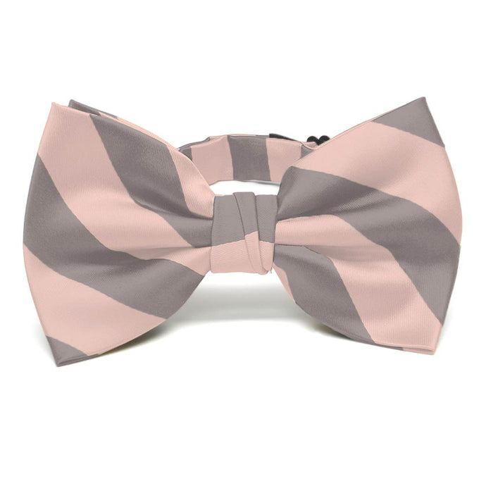 Petal and Portobello Striped Bow Tie