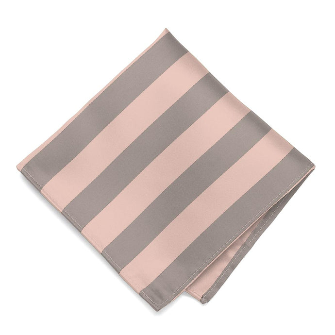 Petal and Portobello Striped Pocket Square