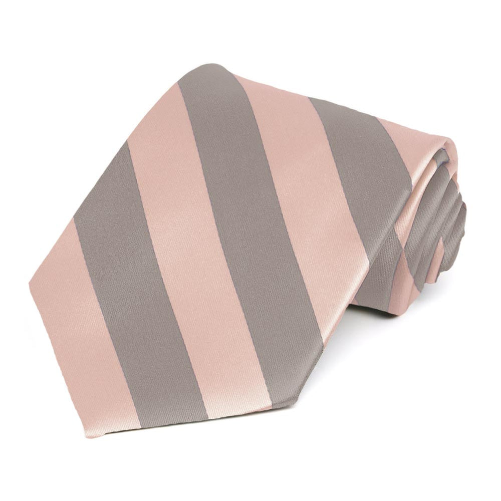 Petal and Portobello Striped Tie