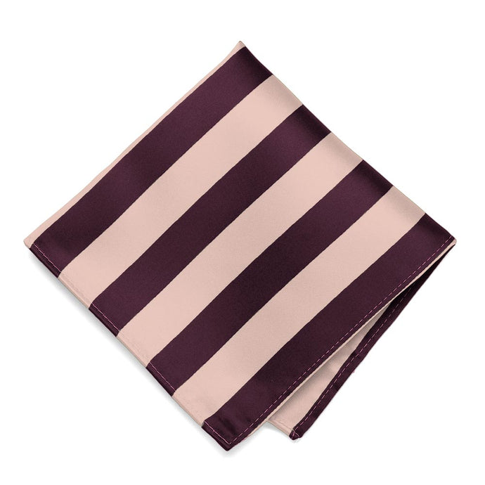 Petal and Wine Striped Pocket Square